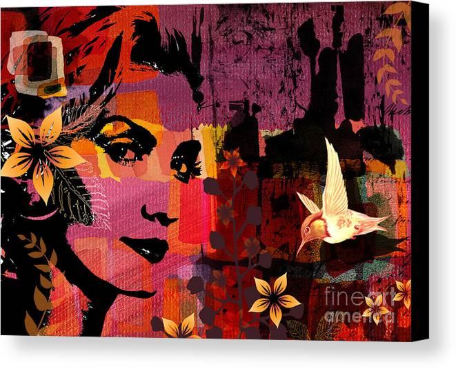 Illustration Canvas Print featuring the digital art Celebrating Life by Ramneek Narang