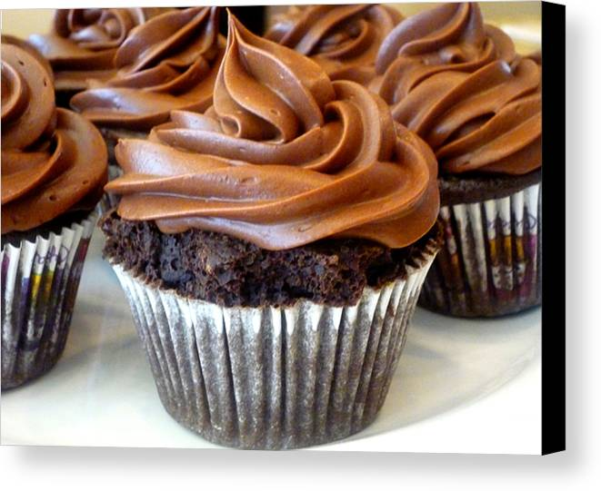 Cupcake Canvas Print featuring the digital art Chocolate Cupcakes by Stephanie Campbell