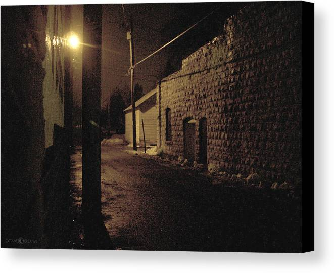 Alley Canvas Print featuring the photograph Dark Alley by Tim Nyberg