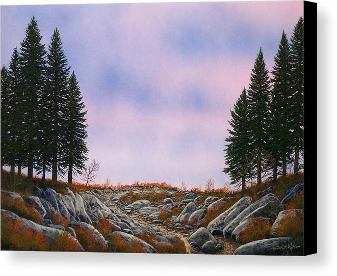 Landscape Canvas Print featuring the painting Dawn Pacific Crest Trail by Frank Wilson