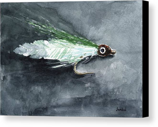 Fishing Canvas Print featuring the painting Deceiver Fishing Fly by Sean Seal