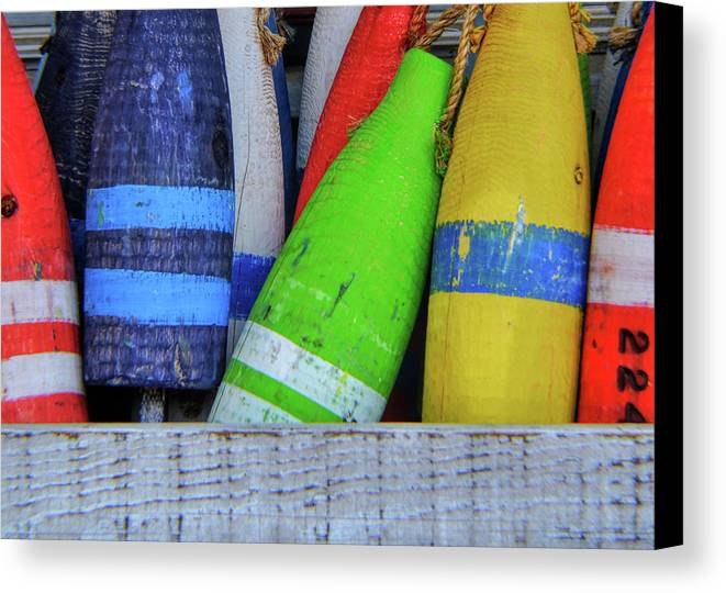 Buoy Canvas Print featuring the photograph Distressed Buoy by JAMART Photography