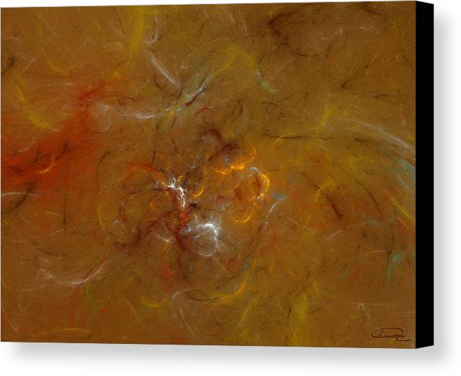 Abstract Canvas Print featuring the painting Earth Inside by Emma Alvarez