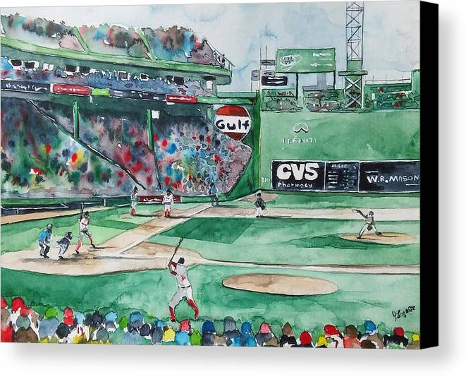 Fenway Park Canvas Print featuring the painting Fenway Park by James Lagasse