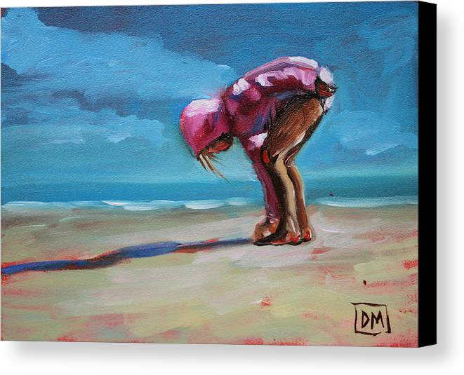 Beach Canvas Print featuring the painting Find by Debbie Miller