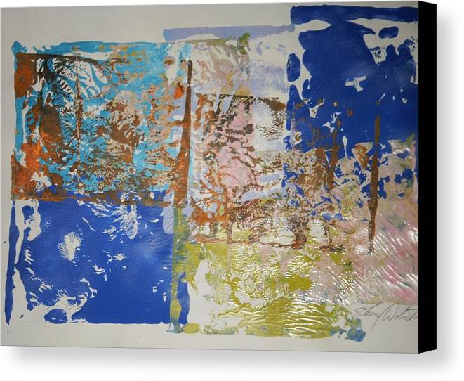 Abstract Canvas Print featuring the painting Flags Of Glory by Edward Wolverton