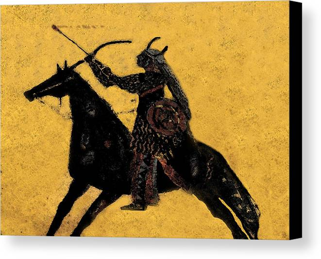 Flaming Arrow Canvas Print featuring the painting Flaming Arrow by David Lee Thompson