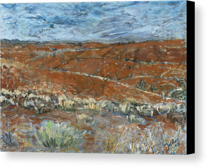 Australia Canvas Print featuring the painting Flinders Ranges by Joan De Bot