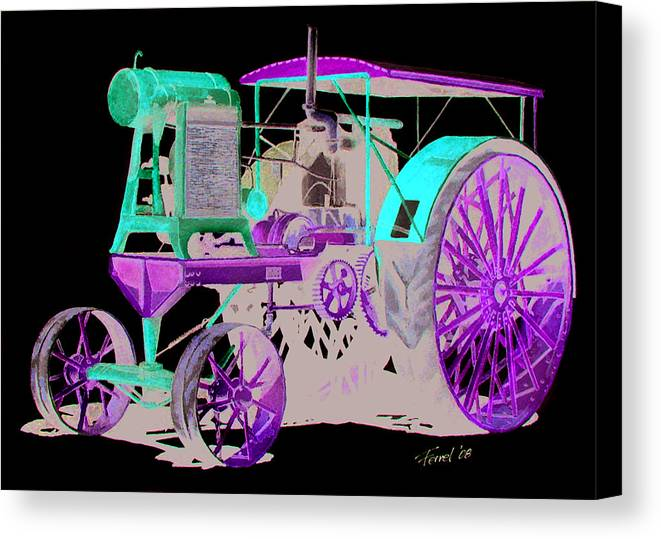 Tractor Canvas Print featuring the painting Flour City Gas Tractor by Ferrel Cordle