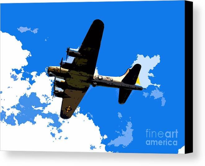 Flying Fortress Canvas Print featuring the photograph Flying Fortress by David Lee Thompson