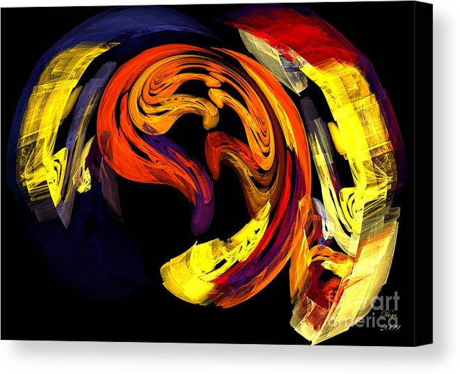 Fractal Canvas Print featuring the digital art Fragments D Arabesques by Dom Creations