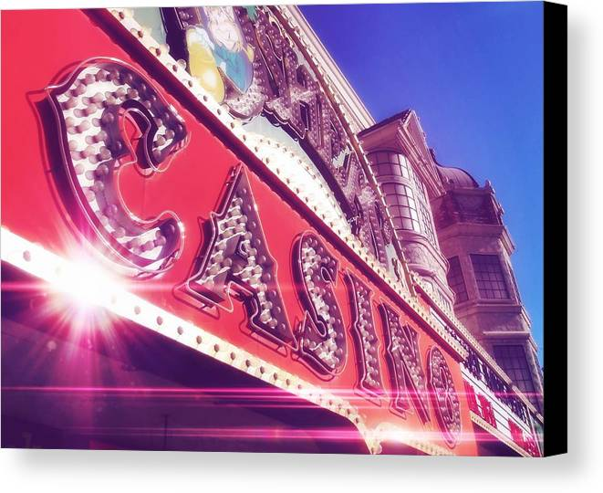 Vegas Canvas Print featuring the photograph Fremont By Day by JAMART Photography