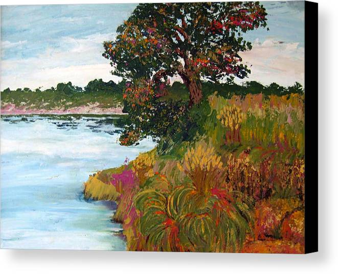Art Nomad Canvas Print featuring the painting Ganges Tree by Art Nomad Sandra Hansen