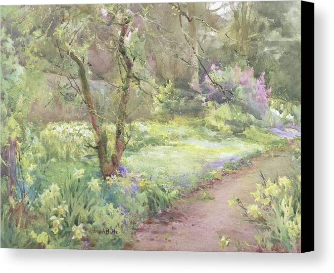 Flower Canvas Print featuring the painting Garden Path by Mildred Anne Butler