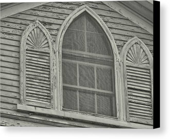 Nantucket Canvas Print featuring the photograph Nantucket Gothic Window by JAMART Photography