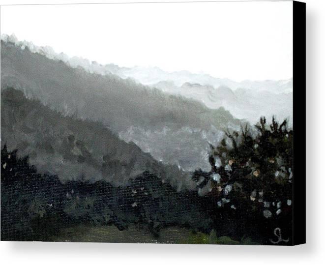 Puerto Rico Canvas Print featuring the painting Hacienda Lamberti by Sarah Lynch