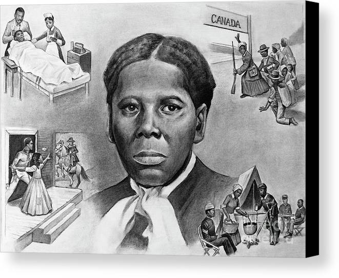 Harriet Tubman Canvas Print featuring the painting Harriet Tubman by Curtis James