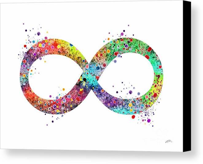 Infinity Symbol Watercolor Print Canvas Print Canvas Art By Svetla