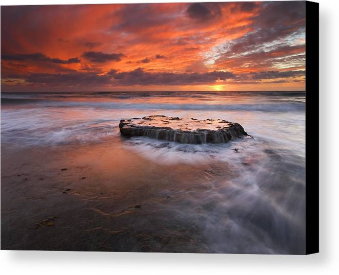 Island Canvas Print featuring the photograph Island In The Storm by Mike Dawson