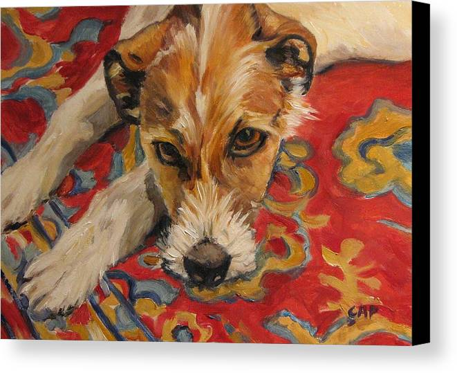 Dog Canvas Print featuring the painting Jack Russell by Cheryl Pass