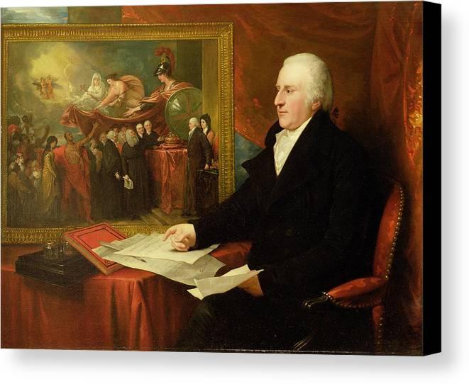 John Canvas Print featuring the painting John Eardley Wilmot by Benjamin West