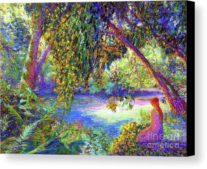 Woodland Canvas Print featuring the painting Just Be by Jane Small