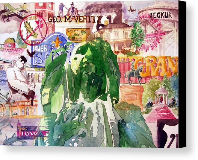 Keokuk Canvas Print featuring the painting Keokuk Legacy by Jame Hayes
