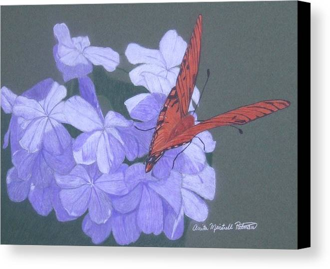 Hydrangea Canvas Print featuring the painting Late Bloomers by Anita Putman