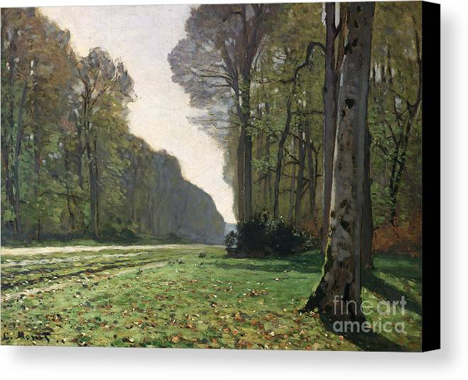 The Canvas Print featuring the painting Le Pave De Chailly by Claude Monet