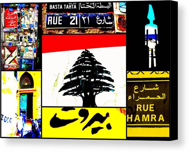 Lebanon Canvas Print featuring the photograph Lebanon Famous Icons by Funkpix Photo Hunter