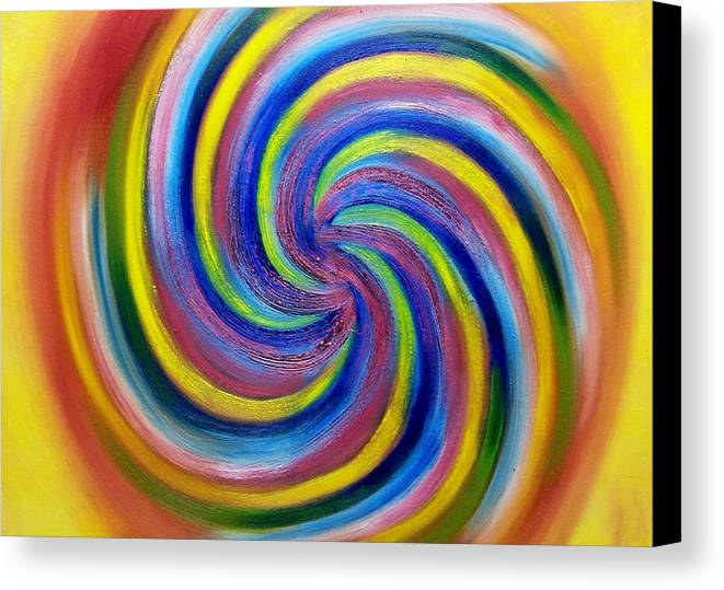 Candy Canvas Print featuring the painting Lolly Pop by Marie Lamoureaux