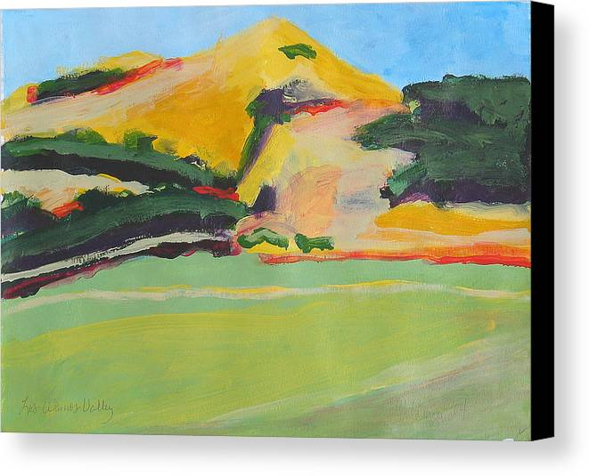 Impressionistic Canvas Print featuring the painting Los Alamos Valley Iv by Deborah Hildinger