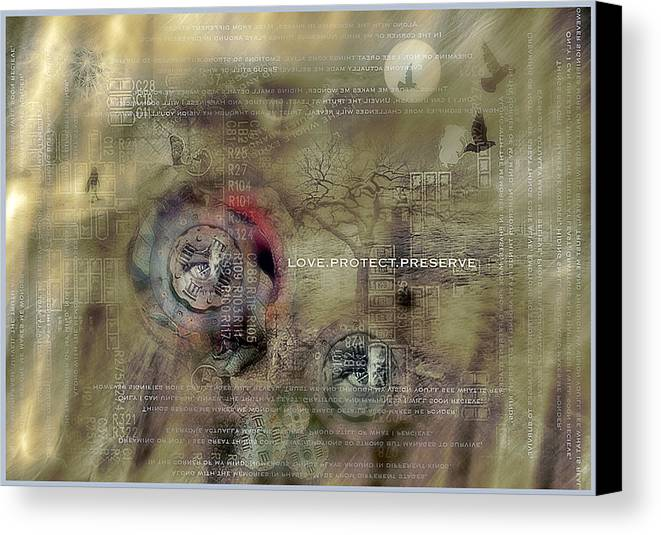 Love Canvas Print featuring the photograph Love Protect Preserve by Edwin Loyola
