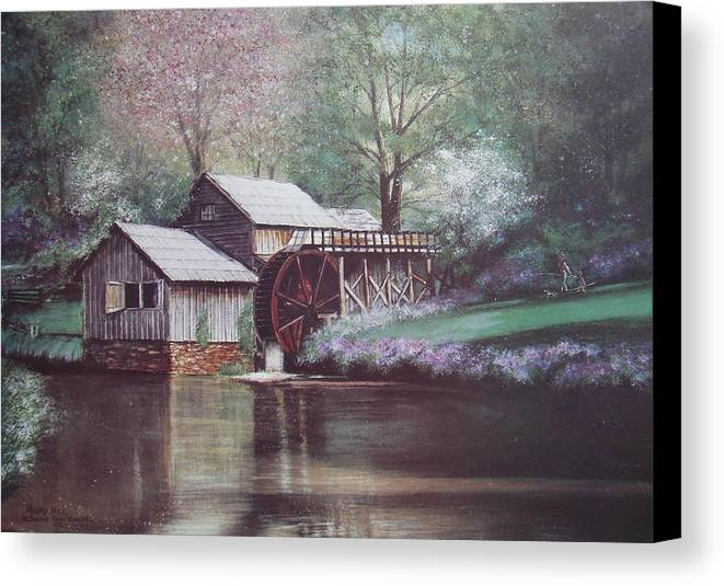 Charles Roy Smith Canvas Print featuring the painting Mabry Mills by Charles Roy Smith