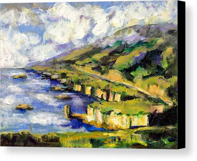 Sea Canvas Print featuring the painting Malibu Looking North by Randy Sprout