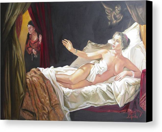 Ignatenko Canvas Print featuring the painting Motif Of Danae by Sergey Ignatenko
