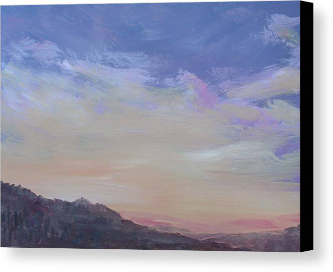 Landscape Canvas Print featuring the painting Mountain Dew by Pete Maier