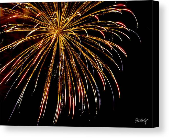 July 4th Canvas Print featuring the photograph Night Colors by Phill Doherty