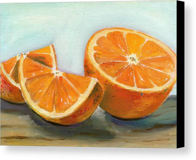 Oil Canvas Print featuring the painting Orange by Sarah Lynch