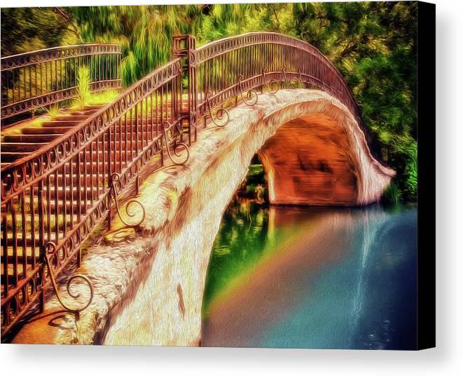 Bridge Canvas Print featuring the photograph Park Walk Bridge by Jerry Bernard