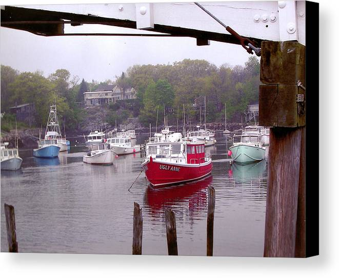 Boats Canvas Print featuring the photograph Perkins Cove by Peter Williams