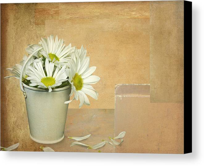 Petal Canvas Print featuring the digital art Petals by Maria Dryfhout