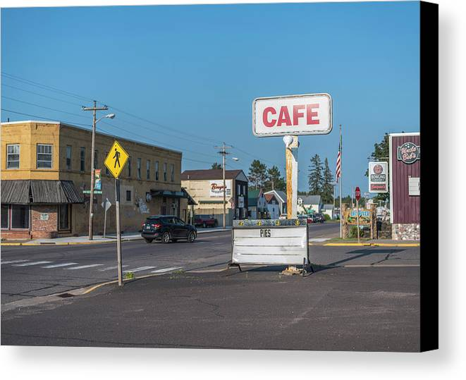 Canvas Print featuring the photograph Pies At The Cafe by Gabe Jacobs
