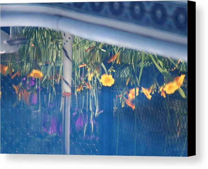Pool Canvas Print featuring the photograph Pool Garden by Amy Holmes