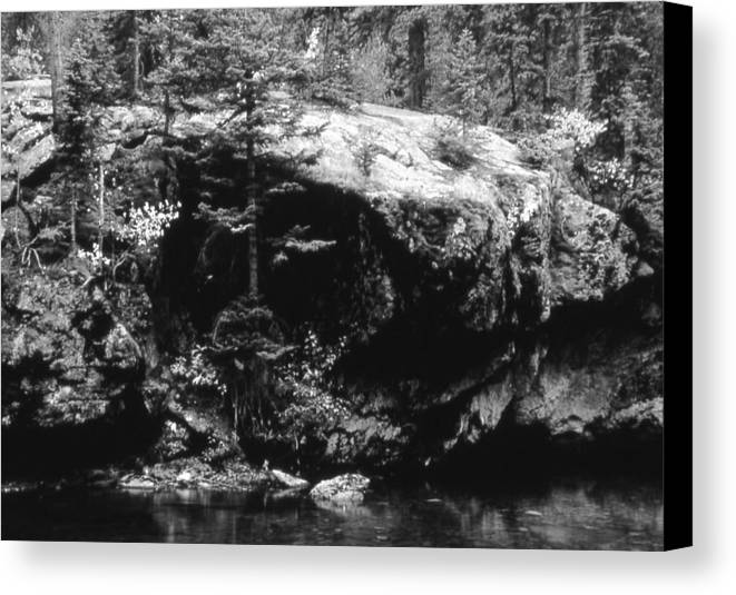 Landscape Canvas Print featuring the photograph Quiet River by Allan McConnell