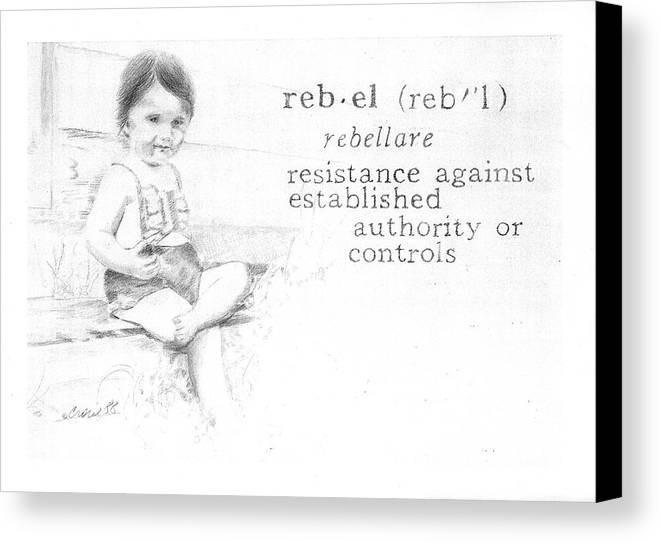 Kids Canvas Print featuring the painting Rebel by Janice Crow