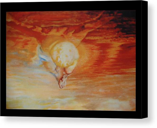 Angels Canvas Print featuring the photograph Red Sky by Rob Hans