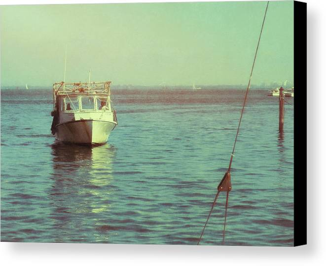 Water Canvas Print featuring the photograph Returning To Port by JAMART Photography
