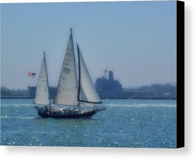 Water Canvas Print featuring the photograph San Diego Bay by JAMART Photography