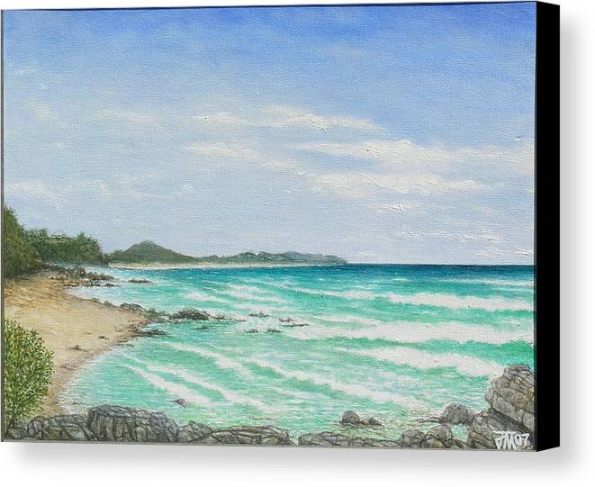 Seascape Canvas Print featuring the painting Second Bay Coolum Beach by Joe Michelli